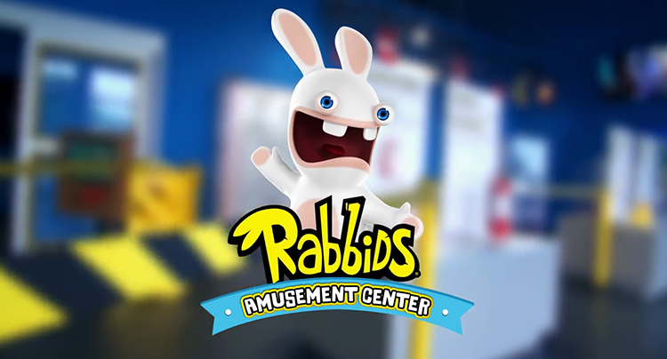 Les Rabbids au parc d'attraction d'ubisoft